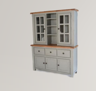 Danube French Grey Buffet and Hutch