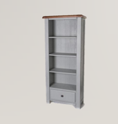 Danube French Grey Bookcase