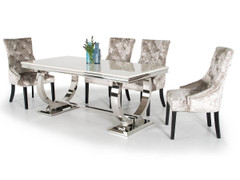 Arianna 200cm Dining Table + 6 Eden Chairs-Mink