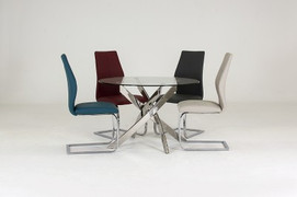 Kalmar 110cm Round Table +  4 Elis Chairs