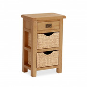 Salisbury Oak Telephone Table with Baskets