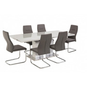 Boston  ext. Dining table-grey 1.6m(2mt)