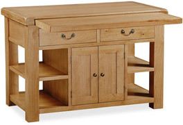 Vintage Oak Extending Kitchen Island