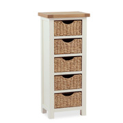 Suffolk Oak Tallboy with Baskets