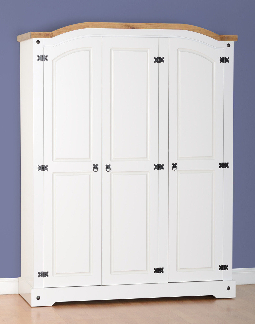 timeless design 7d67e af09d Corona 3 Door Wardrobe-White