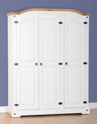 Corona 3 Door Wardrobe-White