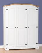 Corona 3 Door Wardrobe-White