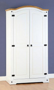 Corona 2 Door Wardrobe-White