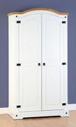 Corona 2 Door Wardrobe-White