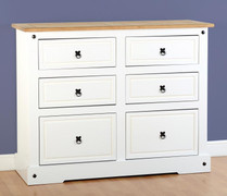 Corona 6 Drawer Chest-White