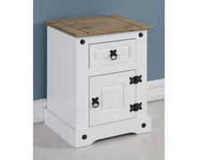 Corona Petite Bedside Cabinet-White