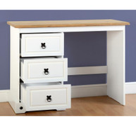Corona 3 Drawer Dressing Table-White