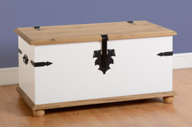Corona Single Storage Chest-White