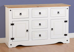 Corona 2 Door 5 Drawer Sideboard-White