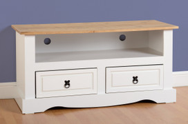 Corona 2 Drawer Flat Screen TV Unit-White