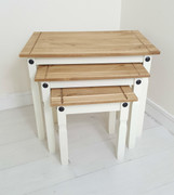 Corona Nest of Tables-White
