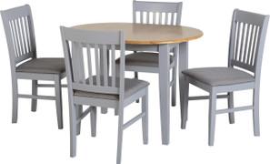 Oxford Extending Dining Set-Grey