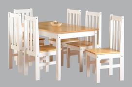 Ludlow 1+6 Dining Set-White