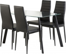 Abbey 47'' Dining Set-Black