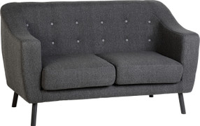 Ashley 2 Seater-Dark Grey Fabric