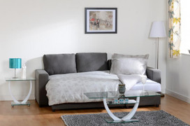 Dora Corner Sofa Bed-Dark Grey Fabric