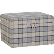 Hammond Storage Stool-Check Fabric