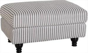 Hammond Foot Stool-Brown Fabric