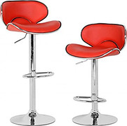 Bahama Swivel Bar Chair-Red
