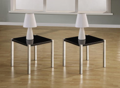Charisma Lamp Table- Black