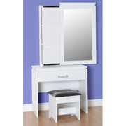 Charles 1 Drawer Dressing Table Set-White