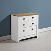 Ludlow 2+2 Drawer Chest -White