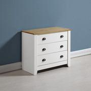 Ludlow 3 Drawer Chest -White