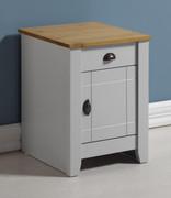 Ludlow 1 Drawer 1 Door Bedside Cabinet-Grey