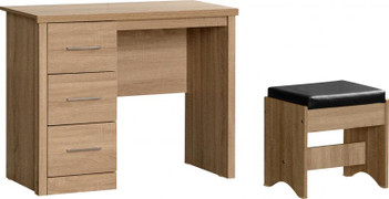 Lisbon 3 Drawer Dressing Table Set-Light Oak
