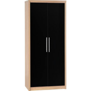 Seville 2 Door Wardrobe-Black