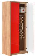 Seville 2 Door Wardrobe-Red