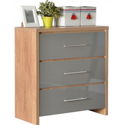Seville 3 Drawer Chest-Grey