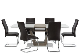 Vittoria 1.6 m Ext. Dining Table + 6 Vittoria Dining Chairs