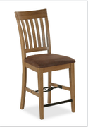 Chesapeake Oak Slatted Gathering Height Chair