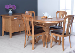 Toledo Dining Set with 4 Dining Chairs.