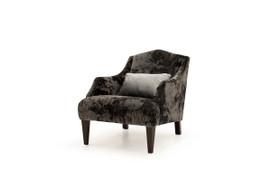 Belvedere Accent Chair-Black-1 Bolster