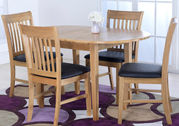 Cleo Table + 4 Cleo Dining Chairs Set.