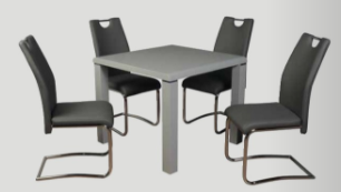 Clarus Dining Set with Grey Chair