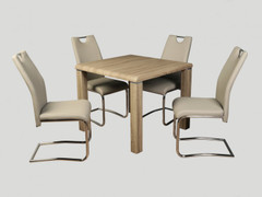 Encore Havana Dining Set with Khaki Chairs