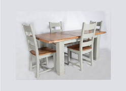 Danube French Grey Dining Set Table + 4 Chairs