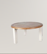 Danube White Round Dining Table