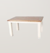 Danube White Dining Table-Fixed Top