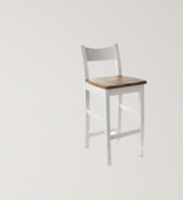 Danube White Bar Stool