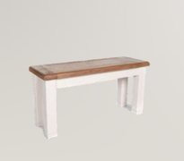 Danube White Small Bench