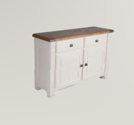 Danube White Sideboard Small Buffet
